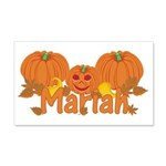 Halloween Pumpkin Mariah 20x12 Wall Decal