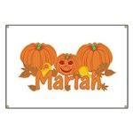 Halloween Pumpkin Mariah Banner