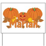 Halloween Pumpkin Mariah Yard Sign
