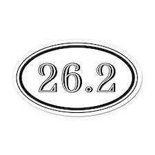 26.2 Marathon Runner Oval Car Magnet