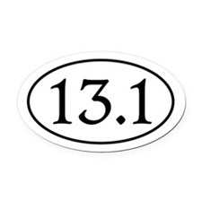 13.1.Caxton.png Oval Car Magnet