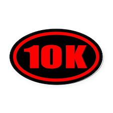 10 K.impact.redblack.png Oval Car Magnet