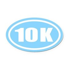 10 K.impact.light blue.png Oval Car Magnet