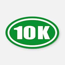 Green 10 K Runner Oval Car Magnet