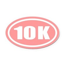 10 K Pink Oval Car Magnet