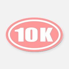 10 K Pink Oval Car Magnet