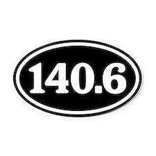140.6 Triathlon Oval Oval Car Magnet