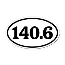 140.6 Triathlon Oval Oval Car Magnet
