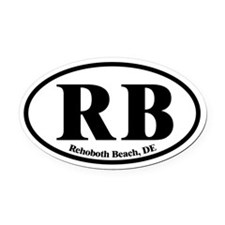 Rehoboth Beach.RB.Dutch.white.png Oval Car Magnet