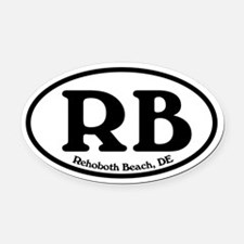 Rehoboth Beach.RB.Windsor.white.png Oval Car Magne
