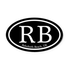 Rehoboth Beach.RB.MattAntique.black.png Oval Car M