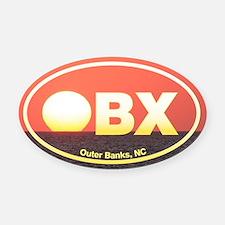 OBX Outer Banks Sunset Oval Car Magnet