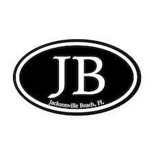 JB.Jacksonville Beach oval.bl.m Oval Car Magnet