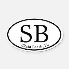 Siesta Beach.SB.MattAntique.white.png Oval Car Mag
