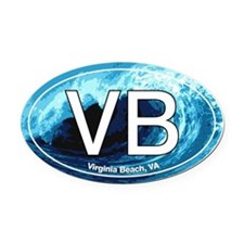 Virginia Beach.VB.wave.jpg Oval Car Magnet