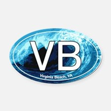Virginia Beach.VB.wave.jpg Oval Car Magnet