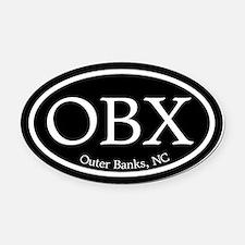 Outer Banks.OBX.MattAntique.black.png Oval Car Mag