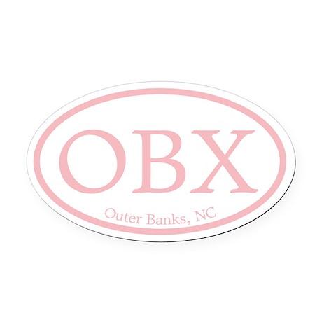 hollow.OBX.MattAntique.pink.png Oval Car Magnet