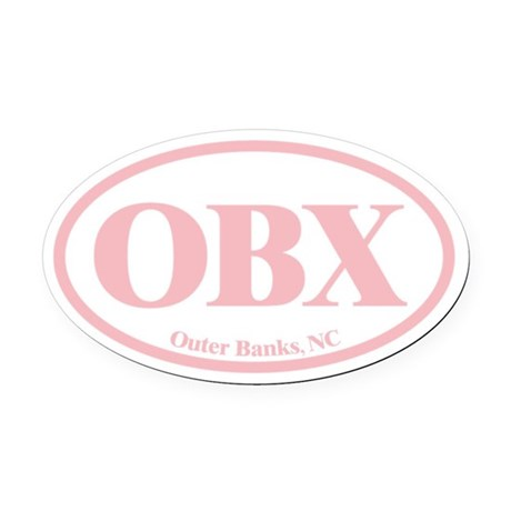 hollow.OBX.Dutch.pink.png Oval Car Magnet