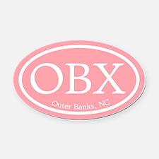 Outer Banks.OBX.MattAntique.pink.png Oval Car Magn
