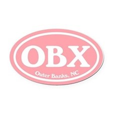 Outer Banks.OBX.Windsor.pink.png Oval Car Magnet