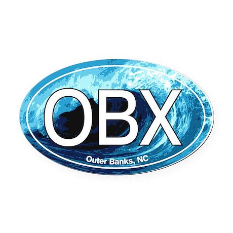 Outer Banks.OBX.wave.jpg Oval Car Magnet