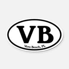 Vero Beach.VB.Windsor.white.png Oval Car Magnet