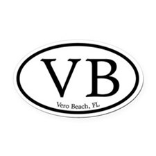 Vero Beach.VB.MattAntique.white.png Oval Car Magne