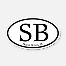 South Beach.SB.MattAntique.white.png Oval Car Magn