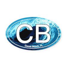Cocoa Beach.CB.wave.jpg Oval Car Magnet