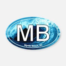 Myrtle Beach.MB.wave.jpg Oval Car Magnet