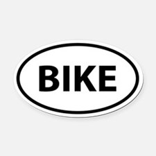 BIKE Oval Car Magnet