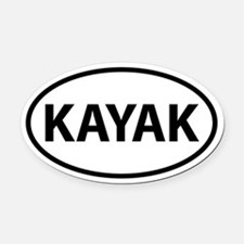 KAYAK Oval Car Magnet