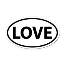 LOVE Oval Oval Car Magnet
