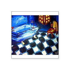 """Blue Bath Square Sticker 3"""" x 3"""""""