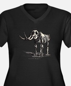 Mastadon.psd Women's Plus Size V-Neck Dark T-Shirt