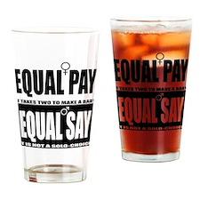 Abortion Sucks and so do sluts! Drinking Glass