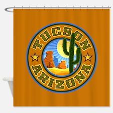 Tucson Desert Circle Shower Curtain