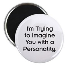 """Sans Personality 2.25"""" Magnet (100 pack)"""