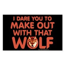 I Dare You Wolf Make-out Decal