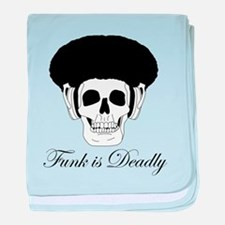 Funk is Deadly Afro skull baby blanket