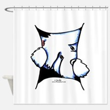 Westie Inside Shower Curtain