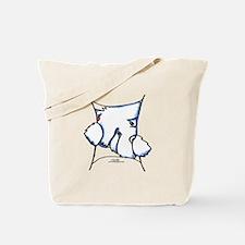Westie Inside Tote Bag