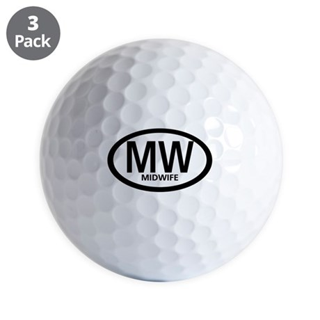 Oval Midwife Golf Balls