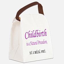 Childbirth Natrual Procudure Canvas Lunch Bag