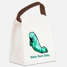 WaterBornManatee.png Canvas Lunch Bag