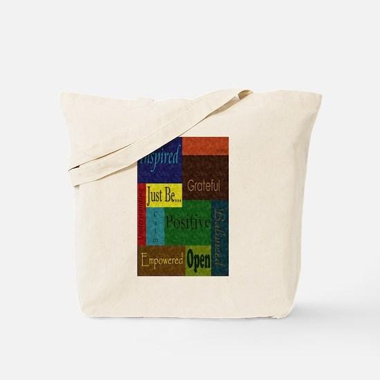 Just be.. poster large Tote Bag