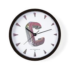 Glamor Brooch C Wall Clock