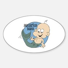 Little Aquarius Baby Oval Decal