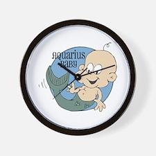 Little Aquarius Baby Wall Clock